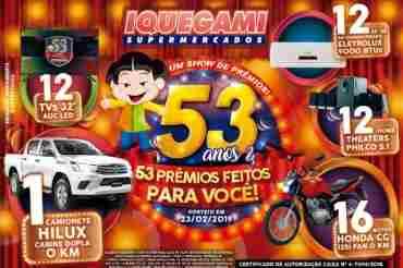 b7c8d5419 Promoção Iquegami Supermercados 53 Anos 53 Prêmios Aniversário ...
