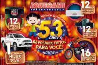 Promoção Iquegami Supermercados 53 Anos 53 Prêmios Aniversário