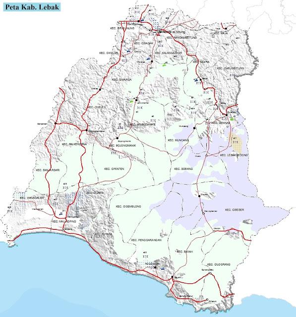 Peta Kabupaten Lebak HD