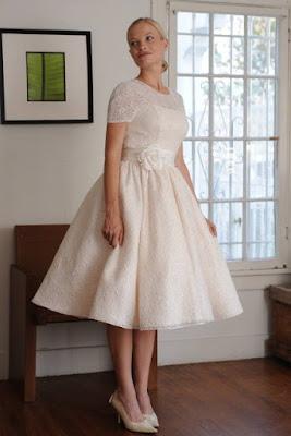 vestido noiva retro vintage curto anos 50 lindo simples armado gode