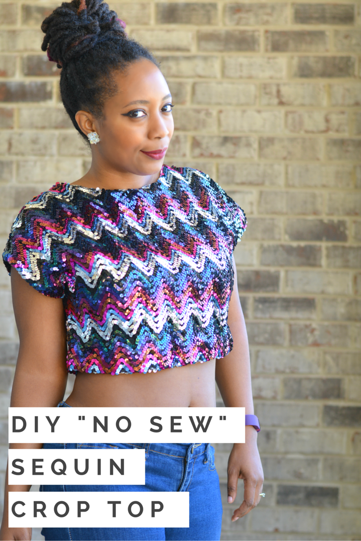 sequin top diy