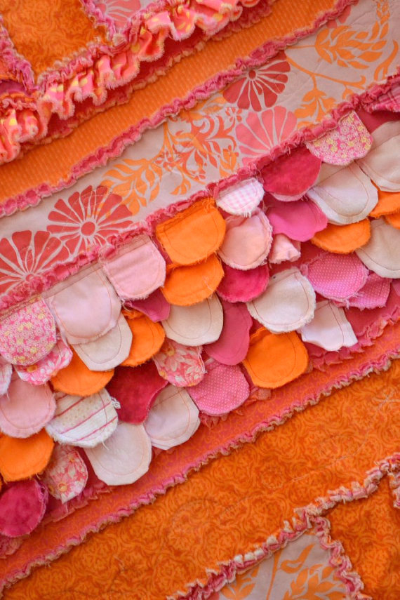 Scallops for Sew Girly Rag Quilt Pattern by A Vision to Remember