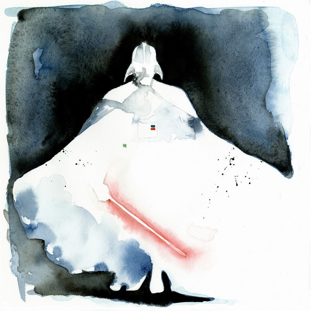 03-Darth-Vader-David-Prowse-Clémentine-Campardou-Blule-Star-Wars-IV-V-VI-Watercolors-www-designstack-co