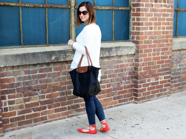 dress up, lace up flats, kendra scott, longchamp