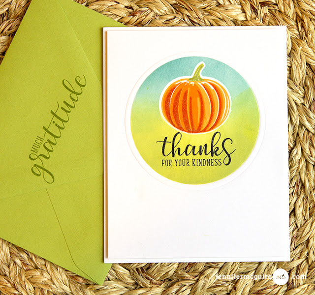 Sunny Studio Stamps: Pretty Pumpkins and Autumn Greetings Cards by Jennifer McGuire