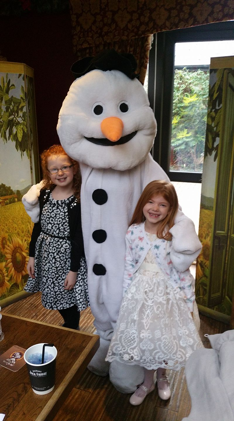 A Girl's Christmas Party Dress from Roco - meeting the snowman