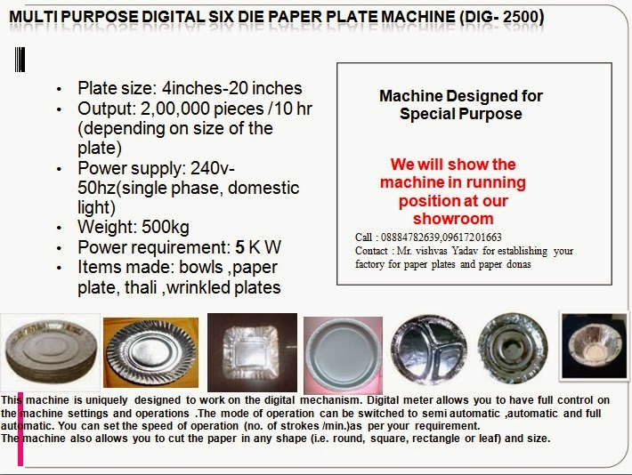 Fully Automatic Paper Plate And Dona making machine: TILES