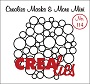 www.crealies.nl Masks & More Mini no. 114 (plastic), Overal cirkels/ Circles all over