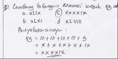 Salah satu bentuk kekeliruan menuliskan bilangan dalam angka romawi