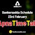 Bankersadda Schedule: 23rd Feb #ApnaTimeTable
