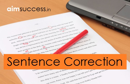 Sentence Correction MCQ for SSC CHSL