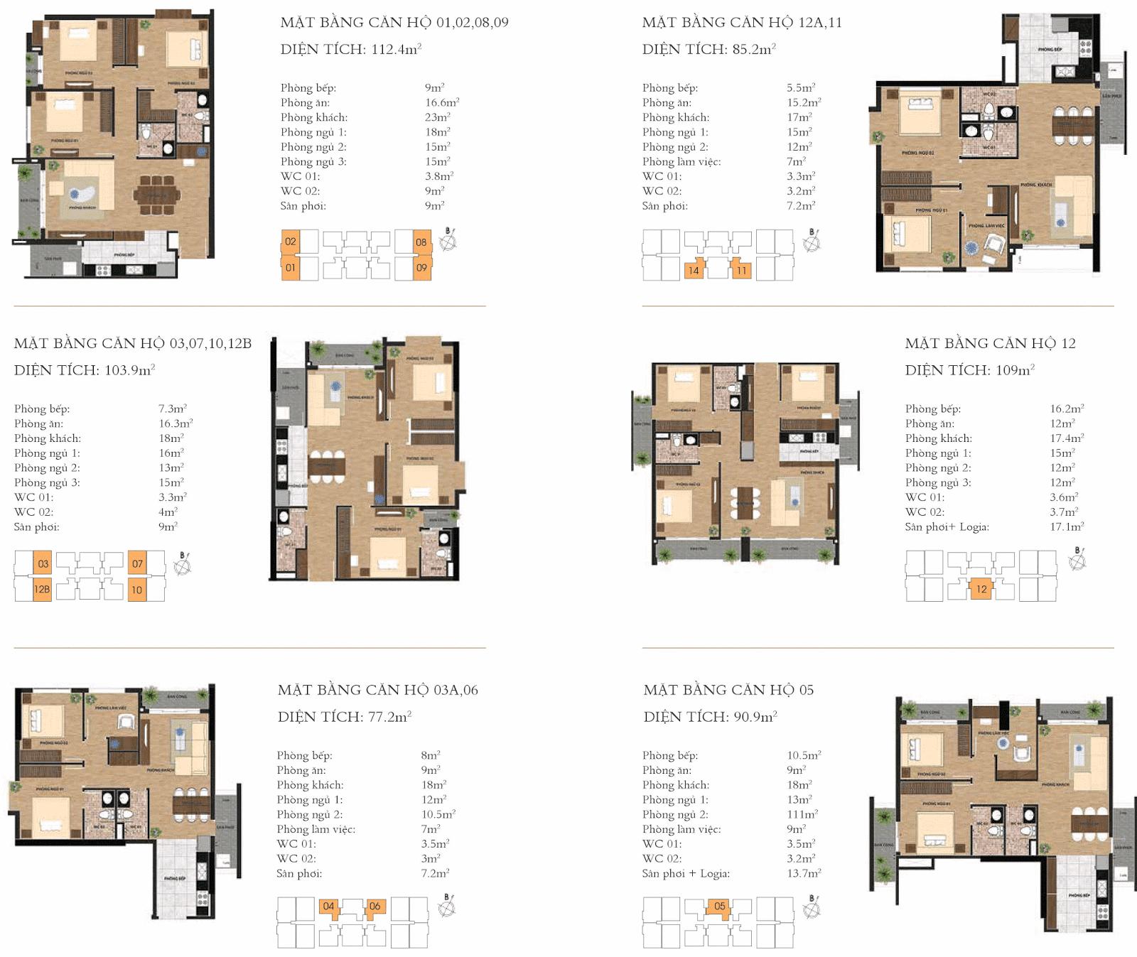 Thiết kế mặt bằng chi tiết căn hộ One 18 Long Biên