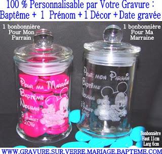 Gravure sur verre verre grav flute grav e mariage - Idee sympa pour bapteme ...