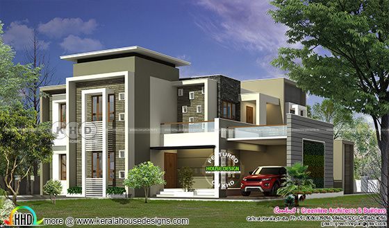 300 Square Meter Contemporary House Plan Kerala Home