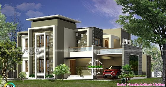 Kerala home design and floor plans 300 square meter for 300 square meter house plan