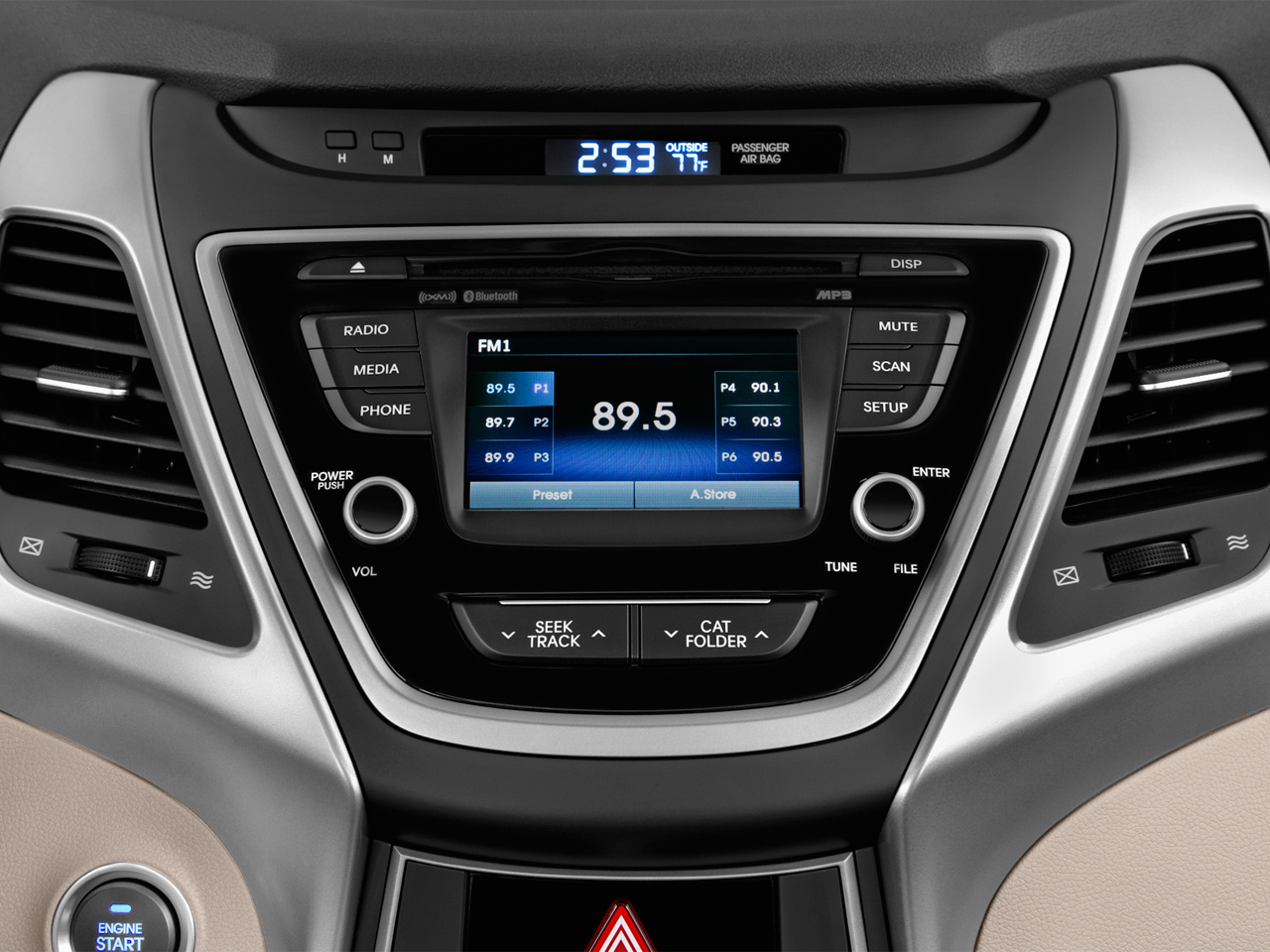 Các nhu cầu giải trí, xả strees sẽ trên Hyundai Elantra 2016 sẽ giúp thư thái nhất có thể