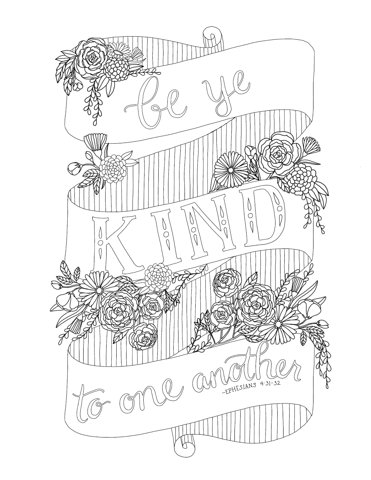 just what i {squeeze} in: Be ye kind to one another