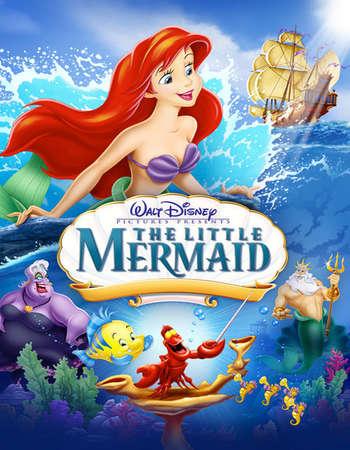 Poster Of The Little Mermaid 1989 Hindi Dual Audio 350MB BRRip 720p ESubs HEVC Free Download Watch Online downloadhub.in