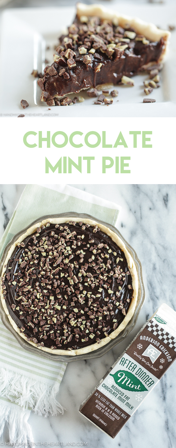 This chocolate mint pie is the perfect dessert for the holidays, it's rich, delicious and everyone will love it!