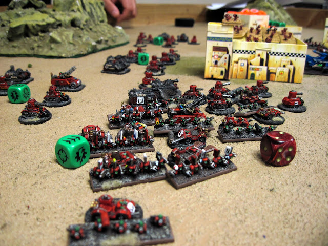 Matt's Red Horde surround Rob's marines.