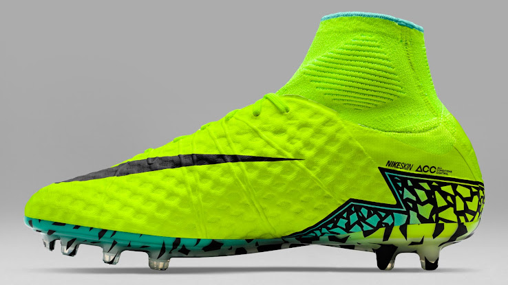 The gradient visible on the Nike Hypervenom Copa America 2016 cleats fades  from Volt at the back to turquoise at the front. 5415378f7762