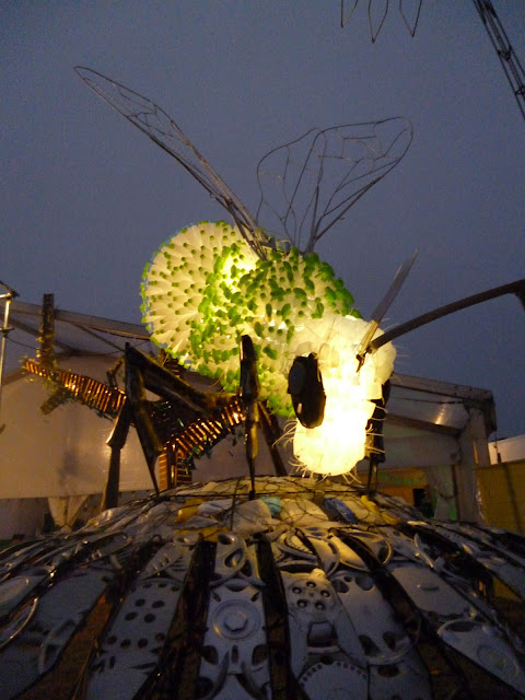 ecover bee at night glastonbury festival 2013