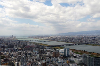 City view of Osaka from Umeda Sky Building Japan