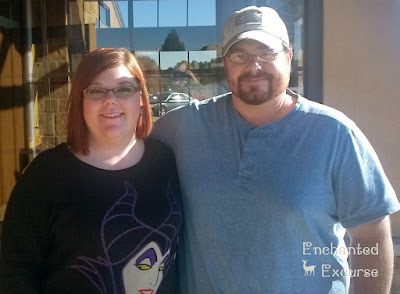 www.enchantedexcurse.com meeting my niece and seeing my brother. Also wearing my Torrid Maleficent sweater