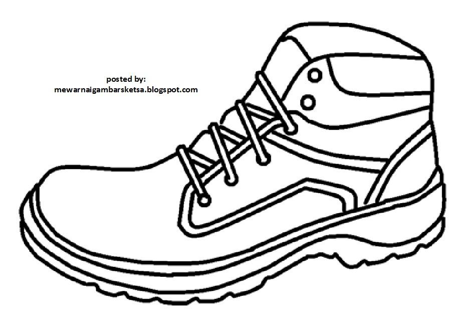 Mewarnai Gambar Mewarnai Gambar Sketsa Sepatu 4