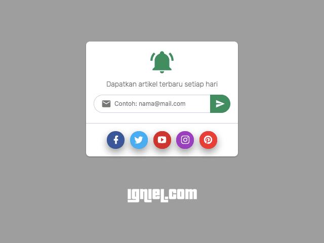 Widget Subscribe Blog Melalui Email