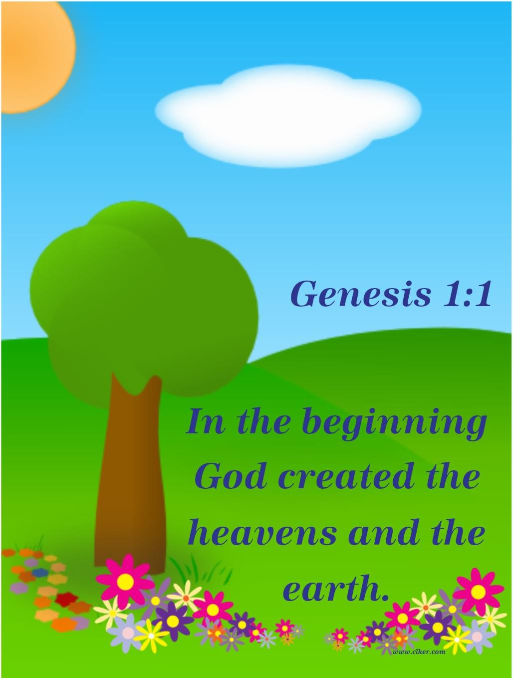 Bible Fun For Kids: Genesis Bible Verse Printables