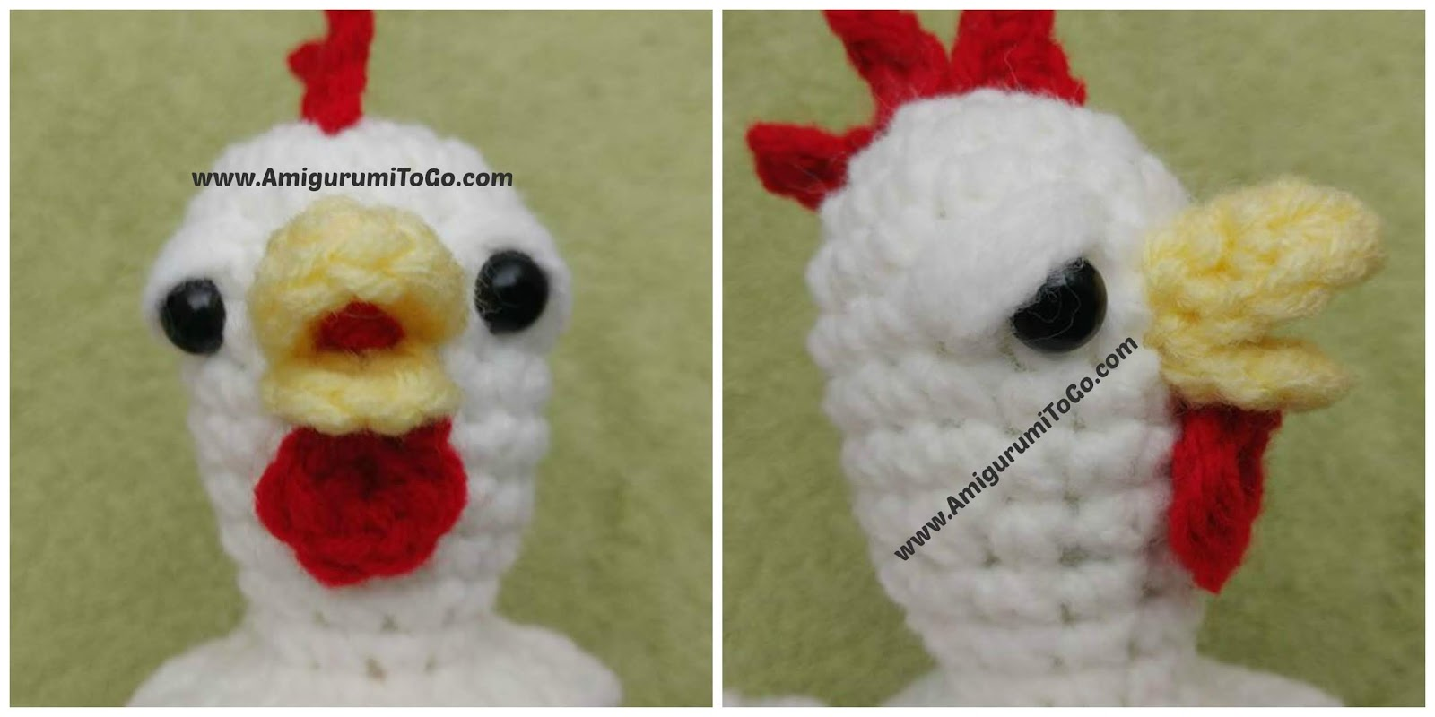 crochet chicken beak and wattle