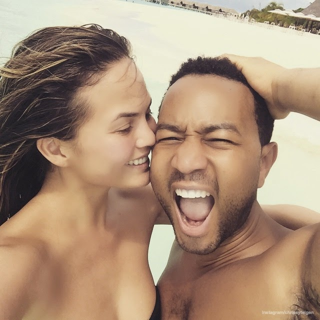 Chrissy Teigen and John Legend's Maldives Holiday Pictures