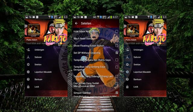 download BBM Mod Tema Naruto Shippuden Versi 2.13.1.14 Apk Terbaru