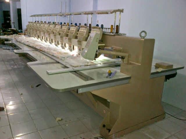 mesin bordir CNY 12 kepala 9 warna