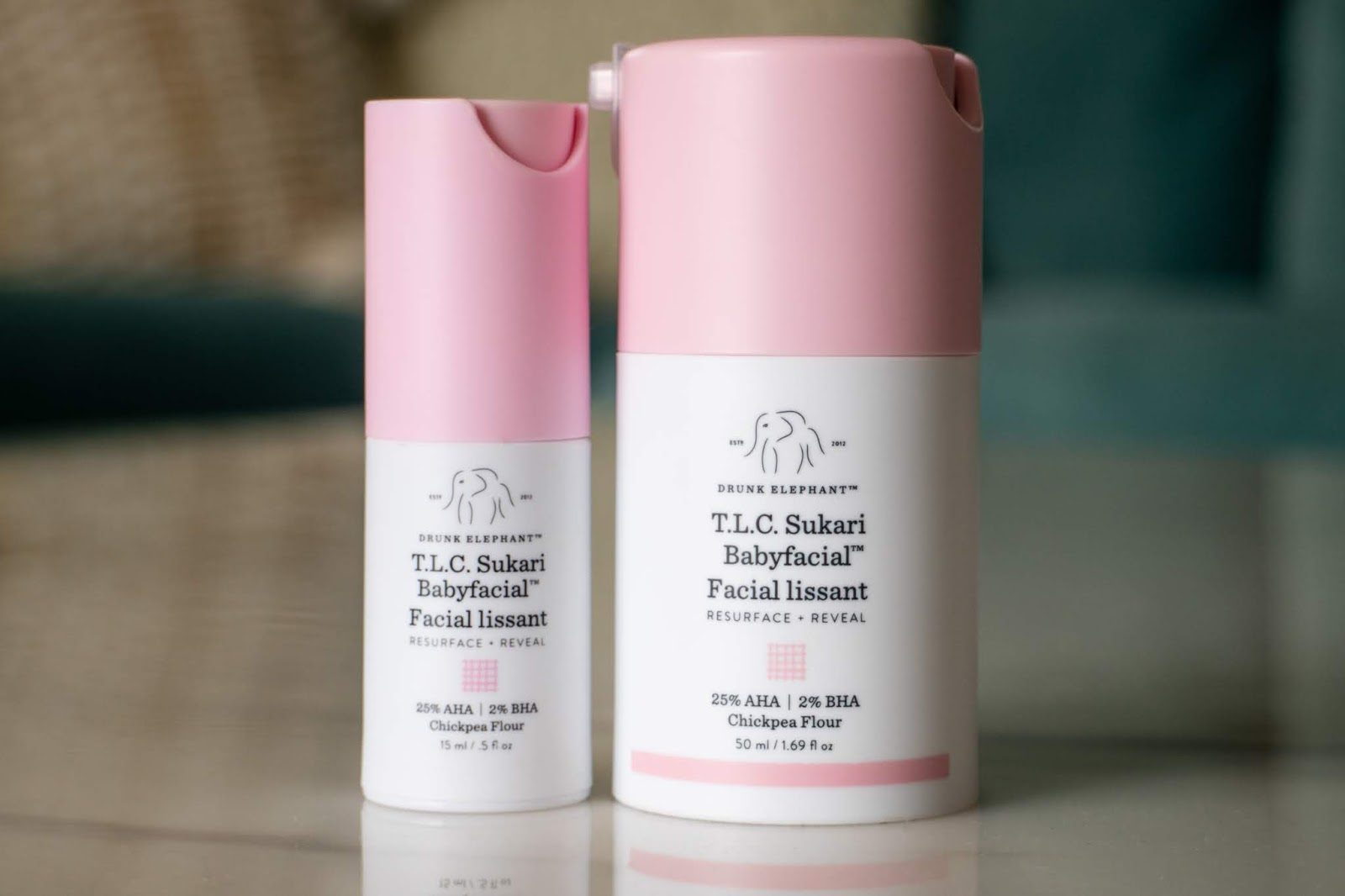 Review on the Drunk Elephant Sukari Babyfacial 25% AHA peel and Virgin Marula Oil