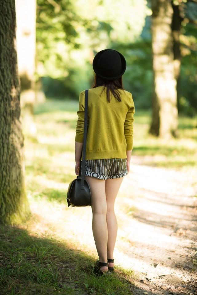 musztardowy kardigan | melonik | dziewczyna w kapeluszu blog