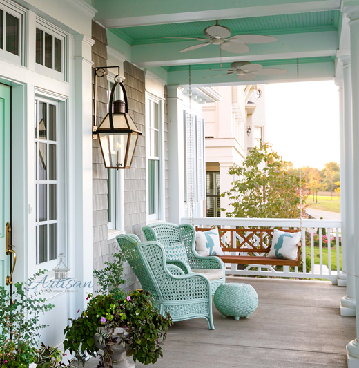 Exceptionnel Indulge In Coastal Colors On Your Porch. These Paint Ideas Show You How.  Artisan Signature Homes