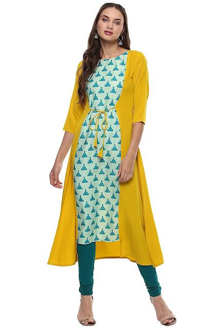 Janasya Women's PolyesterA-line Kurti