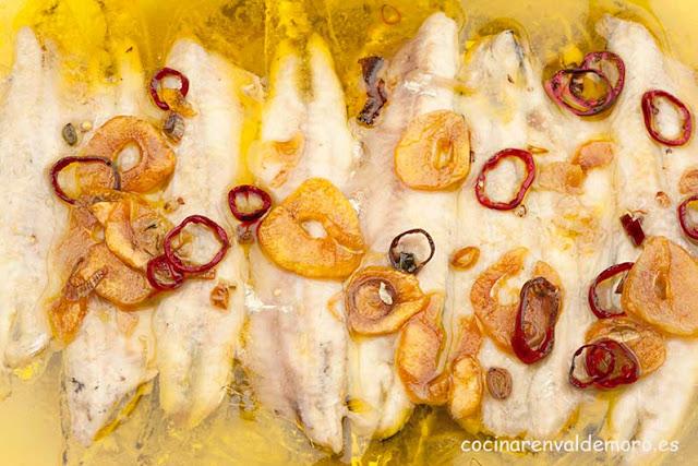 Boquerones a la bilbaína terminados listos para comer