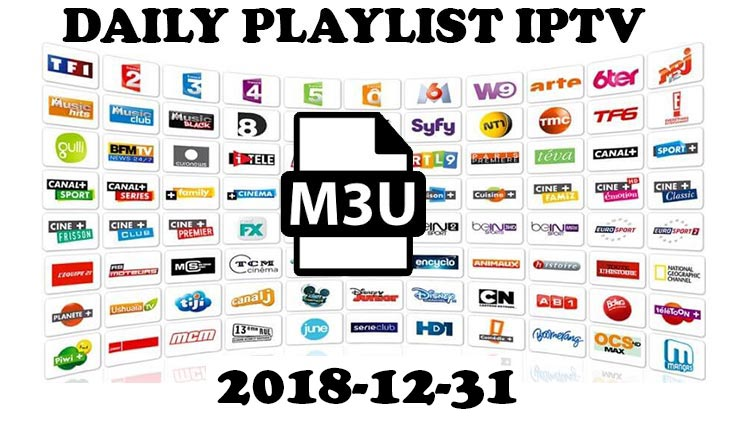 Daily hits IPTV M3u Playlist 31-12-2018