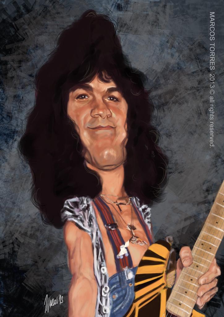 Eddie Van Halen por Marcos Torres