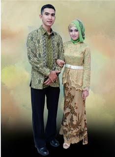 Kebaya Wisuda Kombinasi Batik