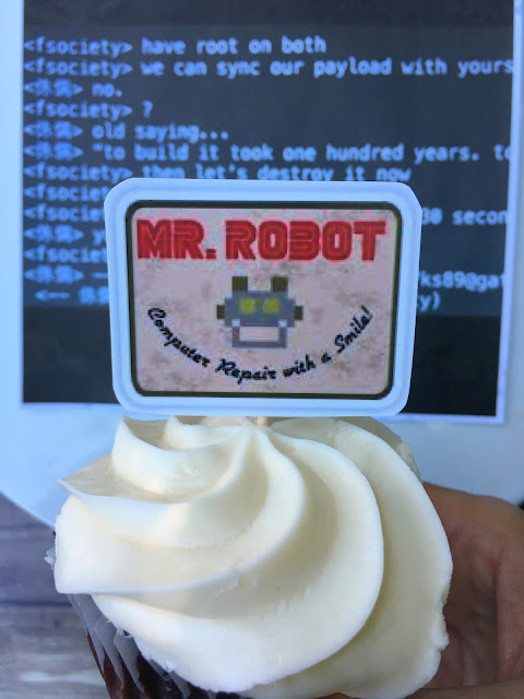 Mr. Robot Party Cupcakes, Perfect for the Emmy Awards | www.jacolynmurphy.com
