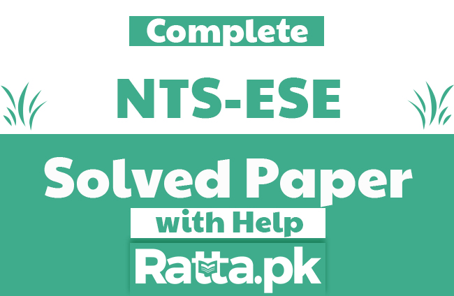 NTS ESE Fully Solved Paper 2018-2019