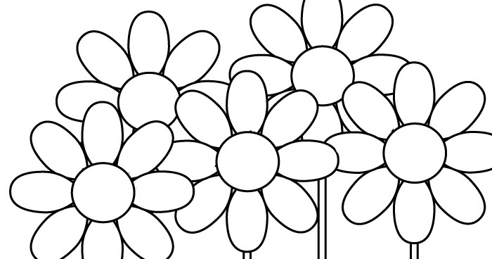 coloring pages of a flower in a pot