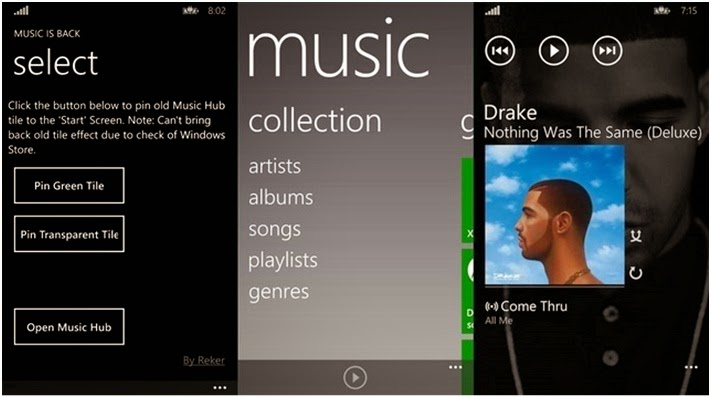 Cara Mengembalikan Aplikasi Xbox Music Lama ke Windows Phone 8.1