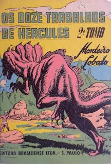 Os doze trabalhos de Hércules. Monteiro Lobato. Editora Brasiliense. Augustus (Augusto Mendes da Silva). André Le Blanc. Paulo Ernesto Nesti. Capa de Livro. Book Cover. Década de 1950. Década de 1960.