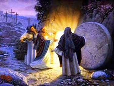 Paix par des prières de partage, la joie de la résurrection.