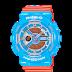 นาฬิกาข้อมือผู้หญิง CASIO สีฟ้า-ส้ม นาฬิกา BABY-G BA-110NC-2A สายเรซิน